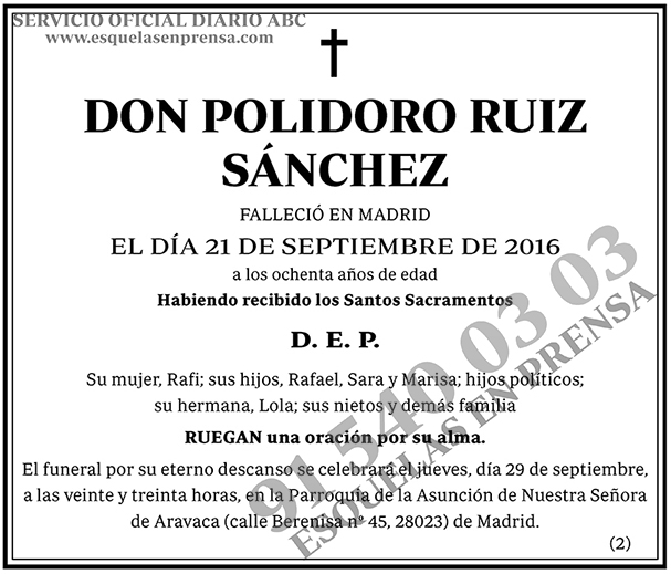 Polidoro Ruiz Sánchez